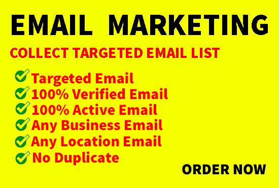 I will build 1k niche-based verified email list