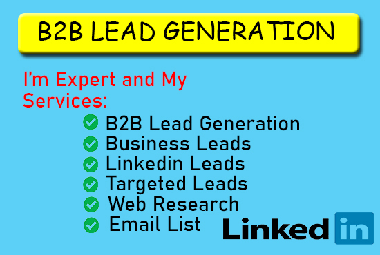 I will do b2b lead generation and web research
