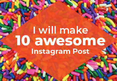 I will make awesome 10 Instagram Post