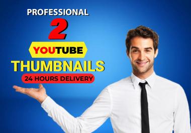 I will design professional youtube thumbnails