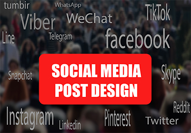 I will design an attractive social media post for you/or for your business