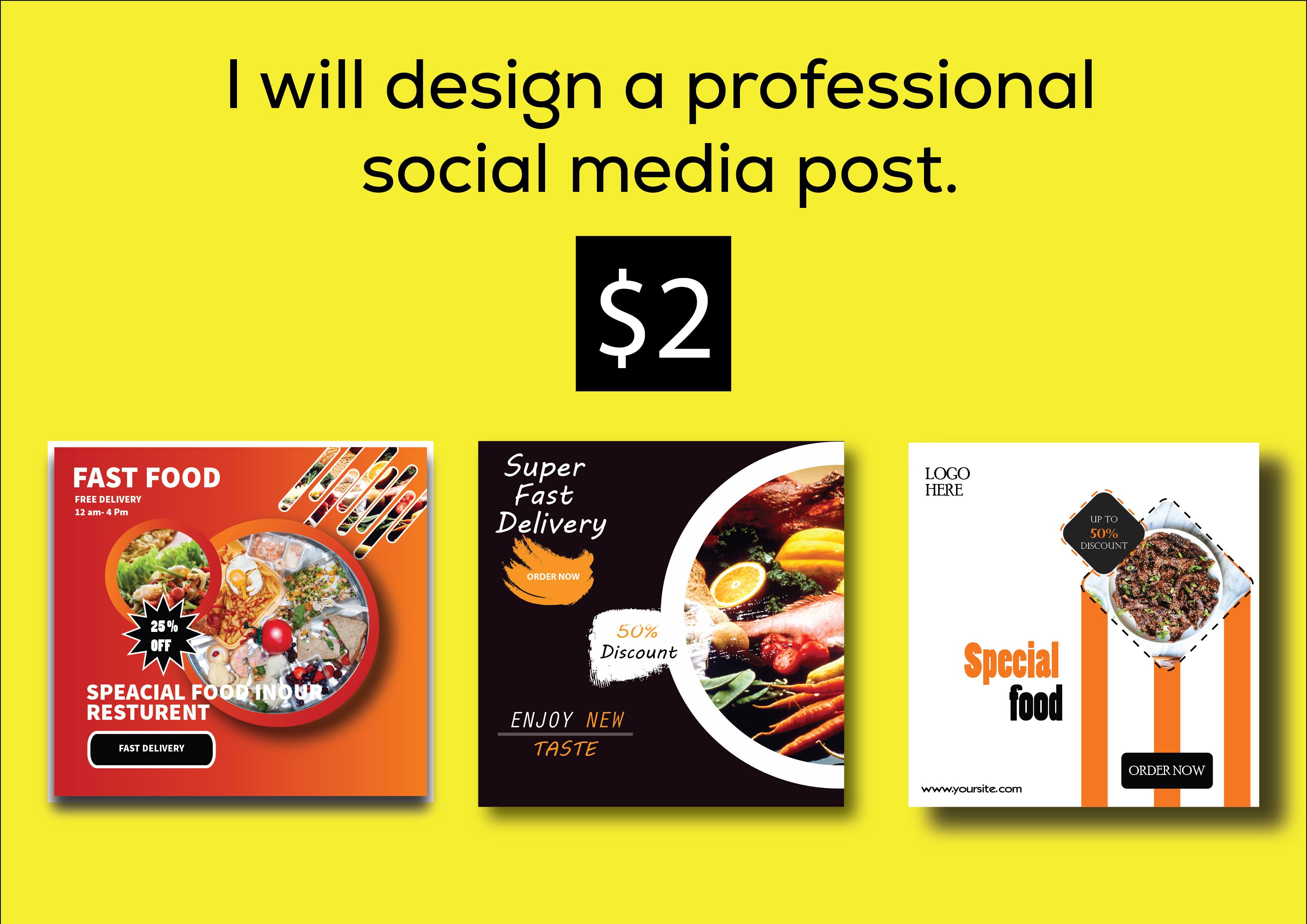 I will design a professional social media post.