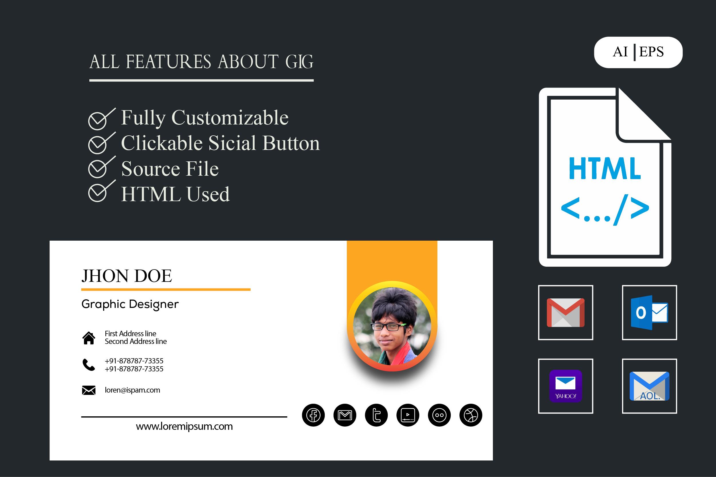 i will design a clickable responsive email signature