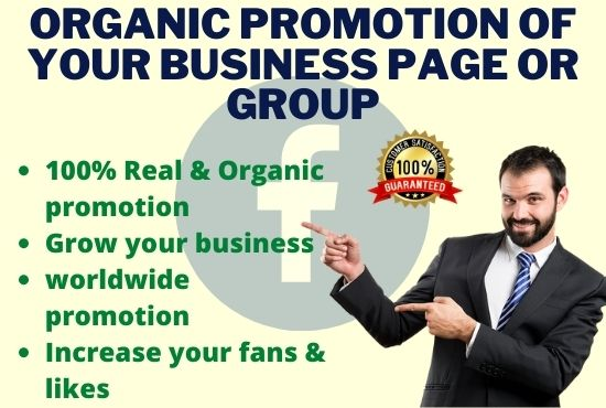 I will do organic promotion of your Facebook page or group
