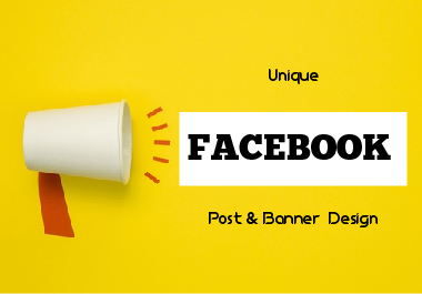 I will make 10 facebook Banner photo & Post design