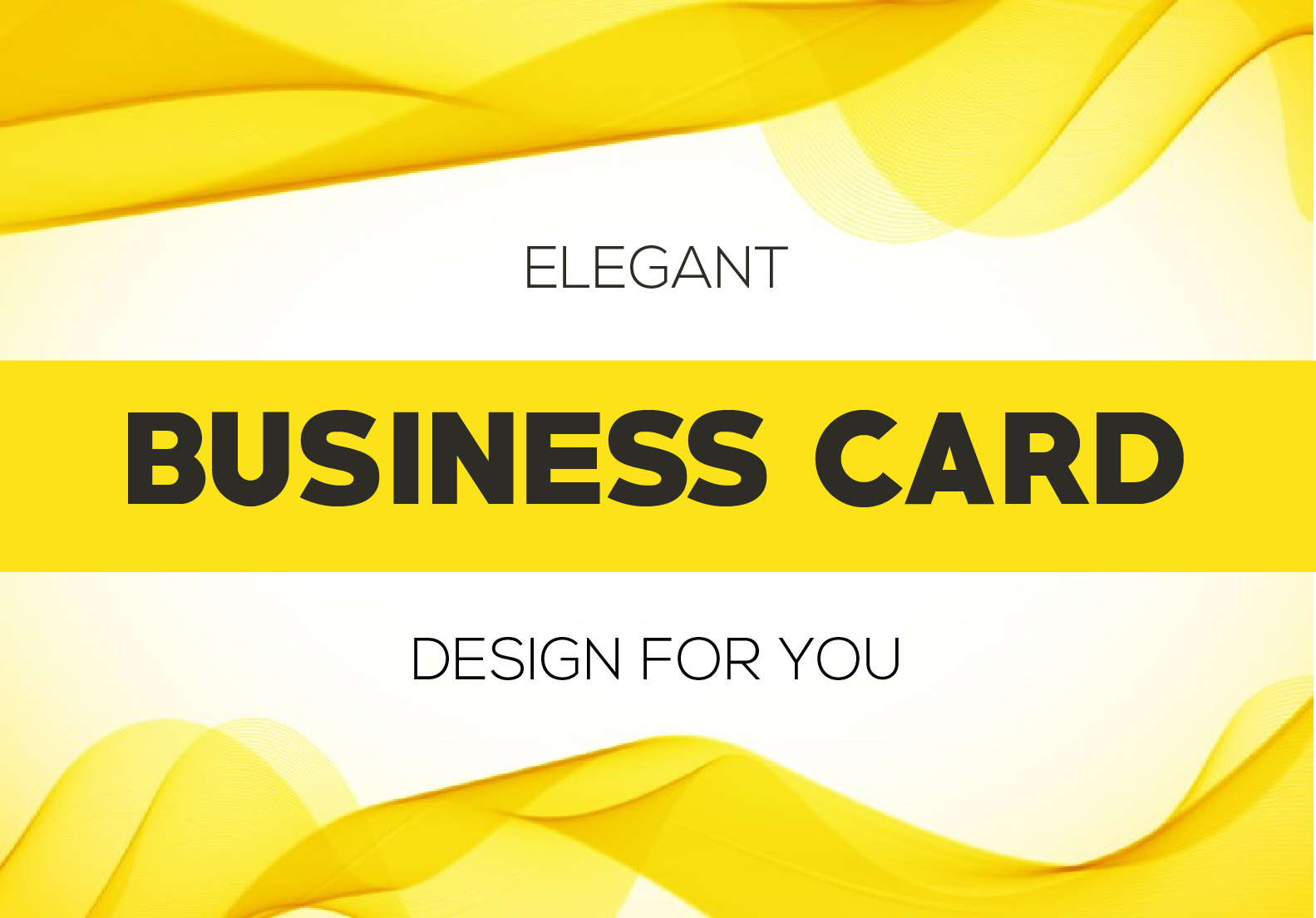 I will design an elegant looking business card for you
