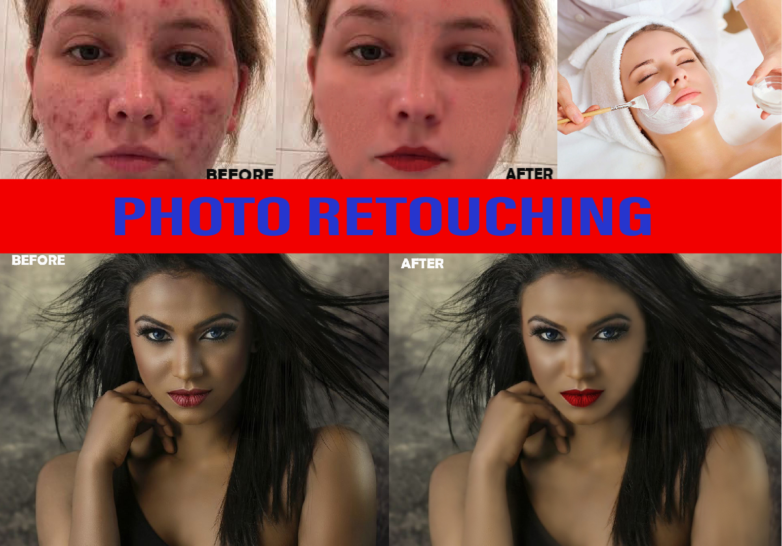 I will do photo retouch and image editing