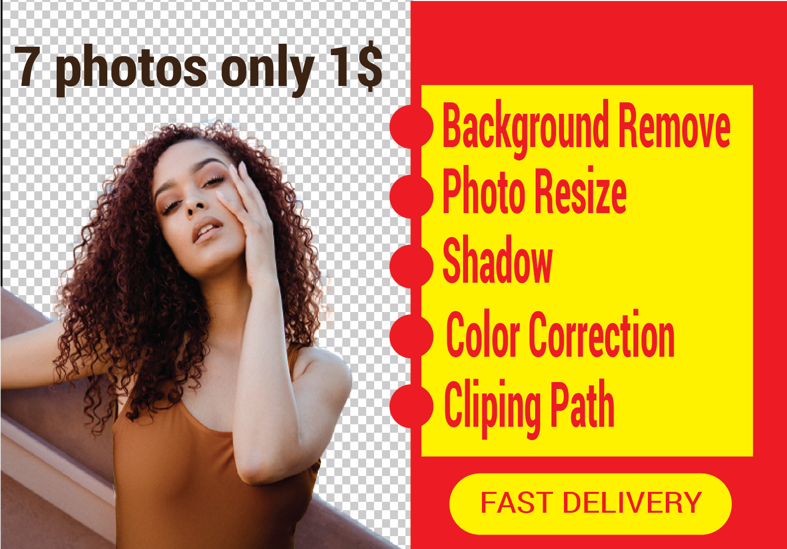 I will do background remove and photoshop editing