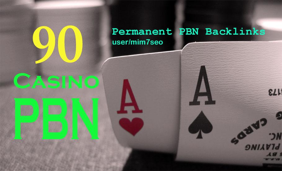 90 Homepage DA 58+ PBN Backlinks Casino,  Gambling,  Poker,  Judi Related Websites