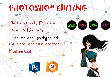 I will do any Photoshop editing and image retouching