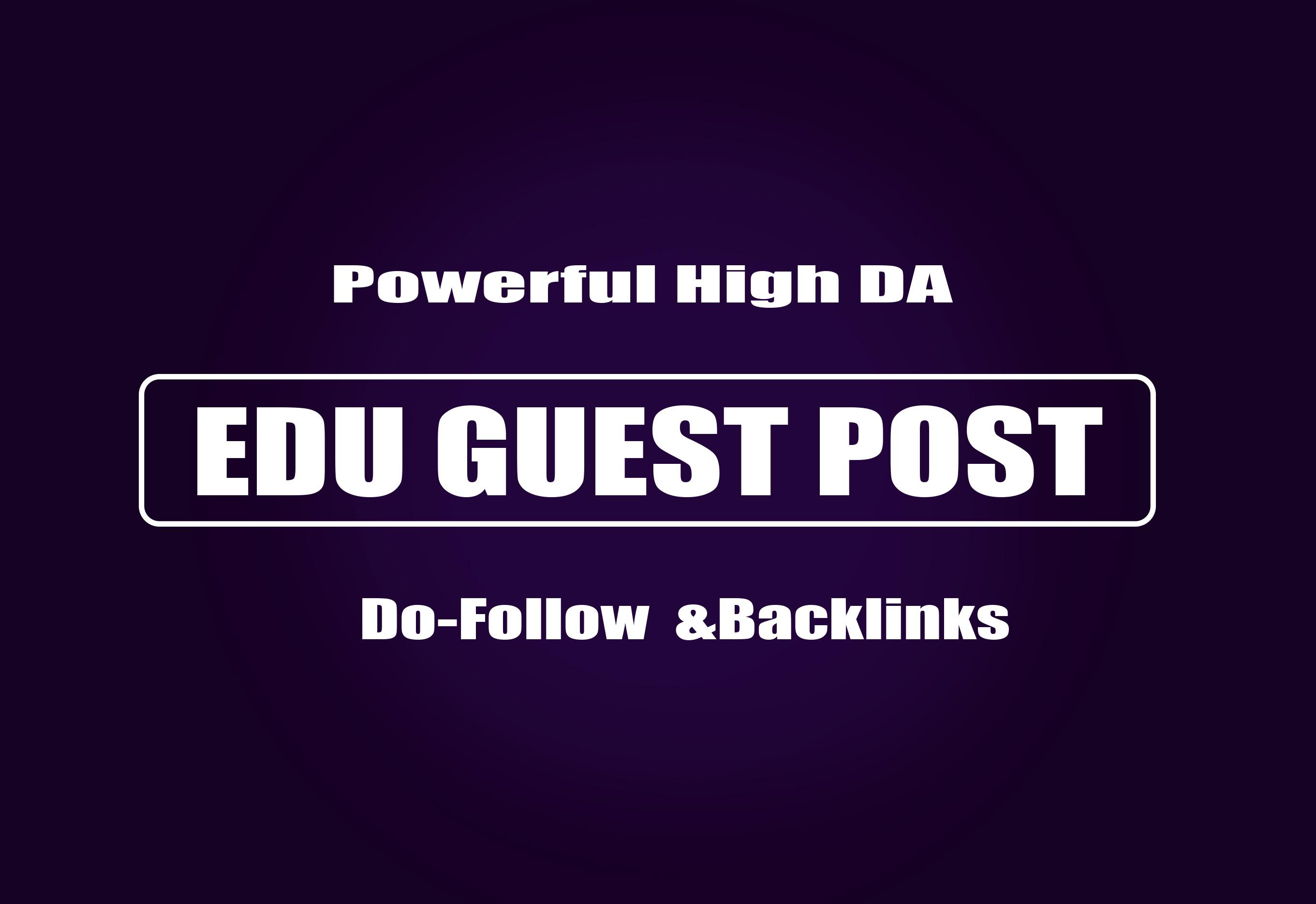 publish 5 EDU Guest Posts on High DA websites