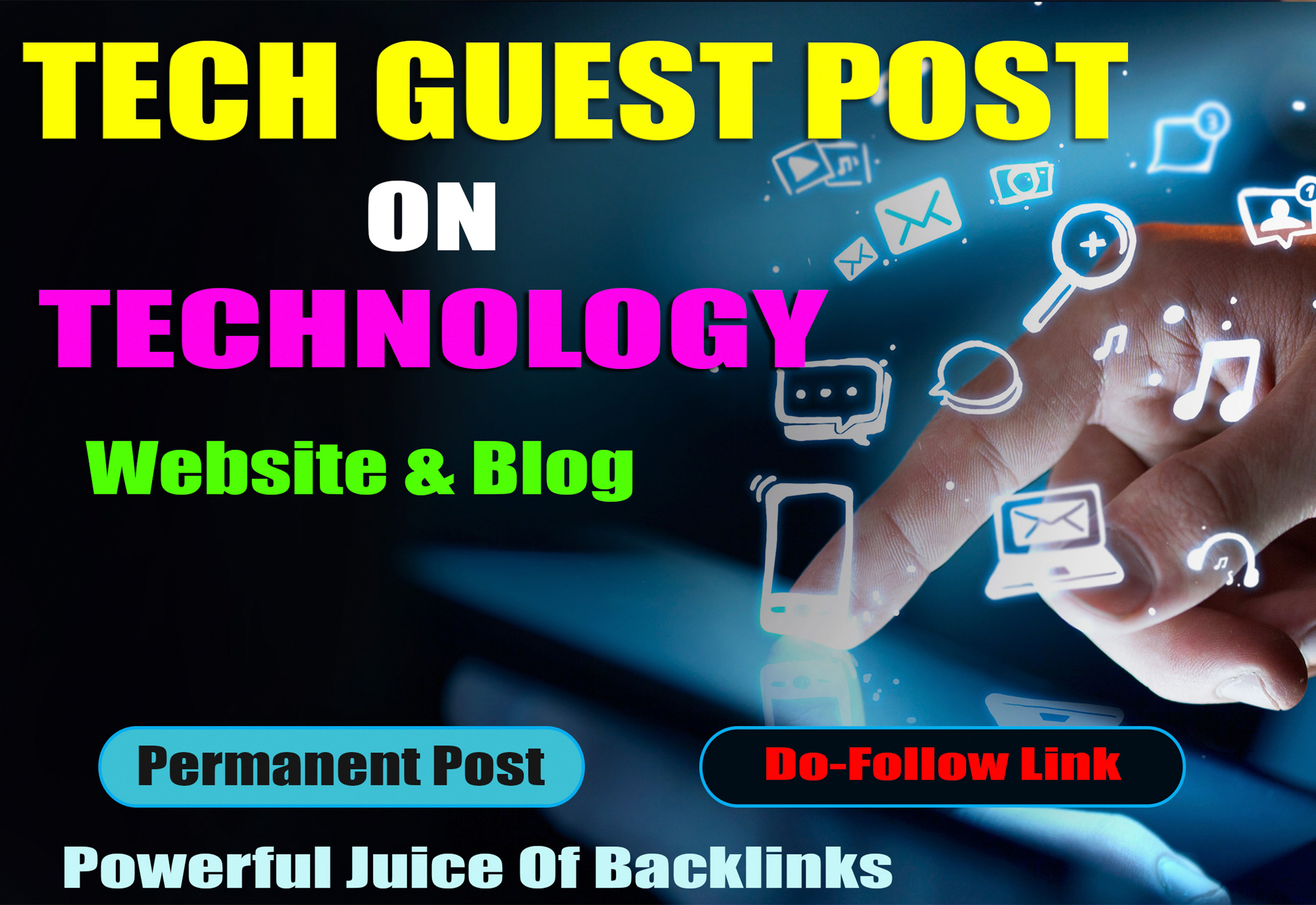 High Quality Tech Blog Guest post unique Tech article to good authority tech High DA,  PA blog