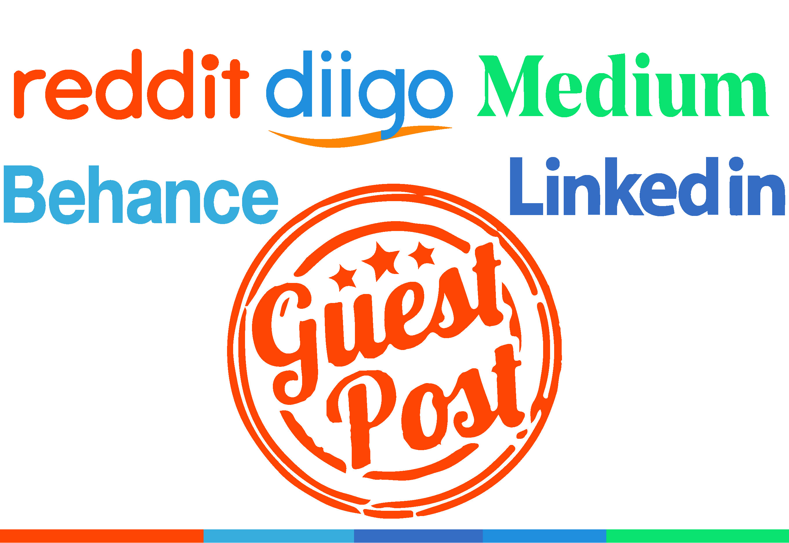 Write And Publish 5 Guest Post On Reddit,  Linkedin,  Behance,  diigo, high DA with backlink