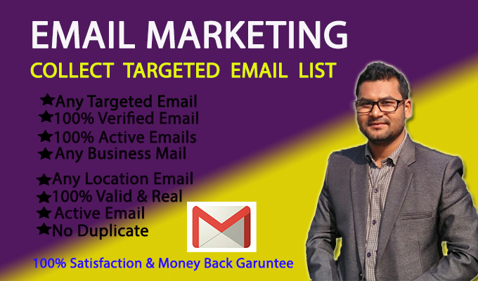 I will collect targeted 1K niche and country based verified email list