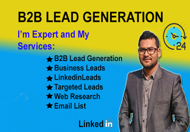 I will do 100 b2b lead generation and web research