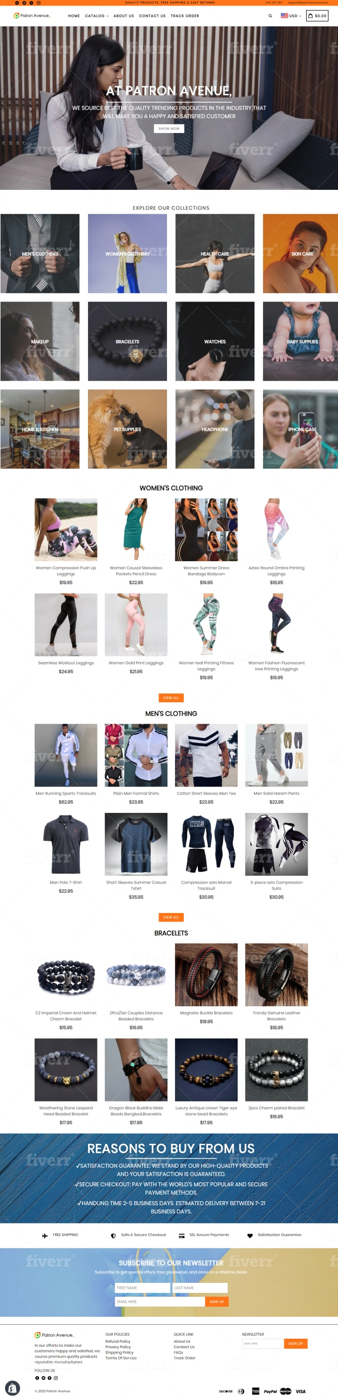 I will create, launch and manage shopify dropshipping store