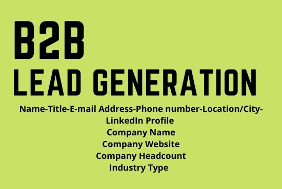 i will do b2b lead generation with prospect email list
