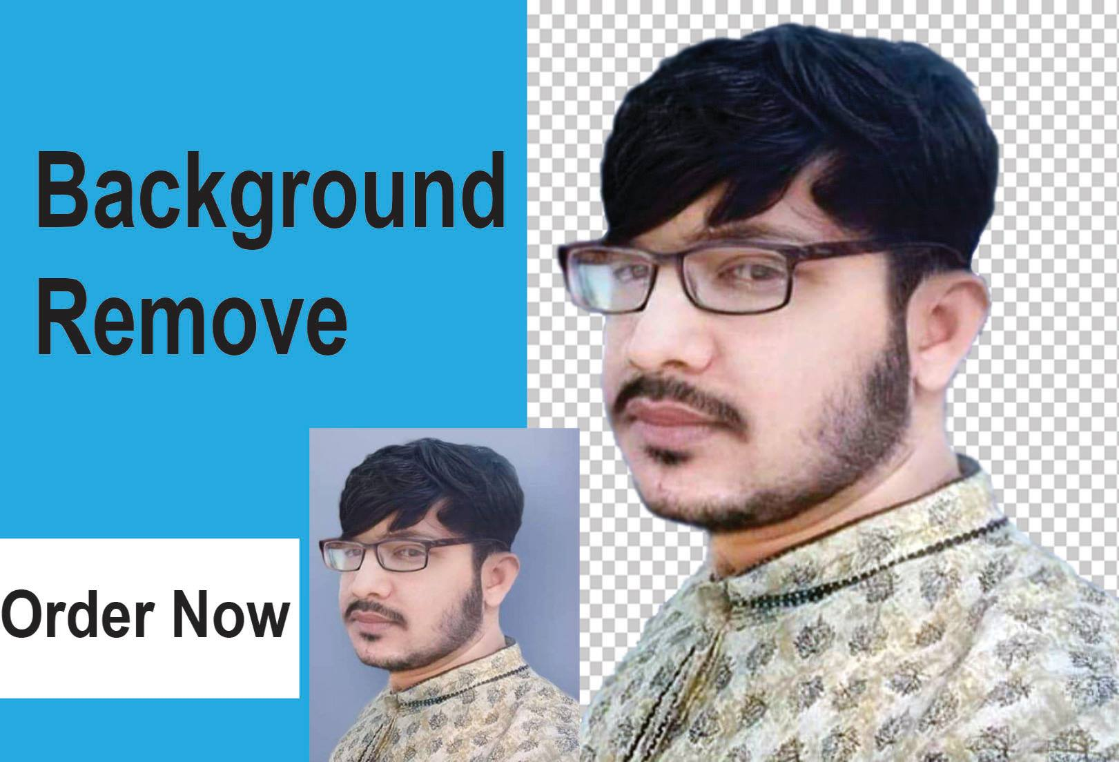 I will do 20 image background remove or change in 12 hours