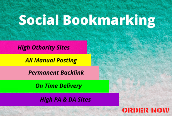 I will manually 50 bookmarking in high DA sites