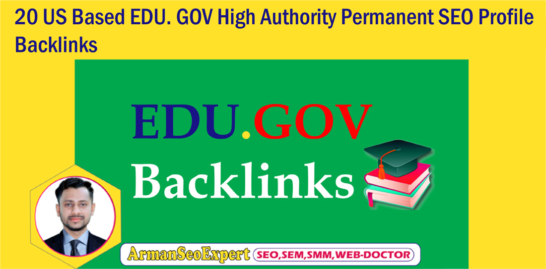 20 US Based EDU. GOV High Authority Permanent SEO Profile Backlinks