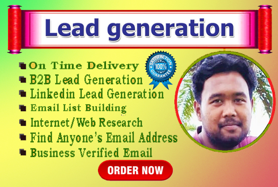I will do the web research and build 50 targeted Lead Generation.
