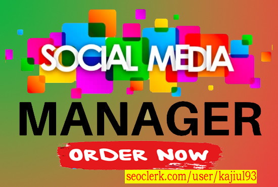 your social media business page manager 2 Post/Day, 15 Days Manager