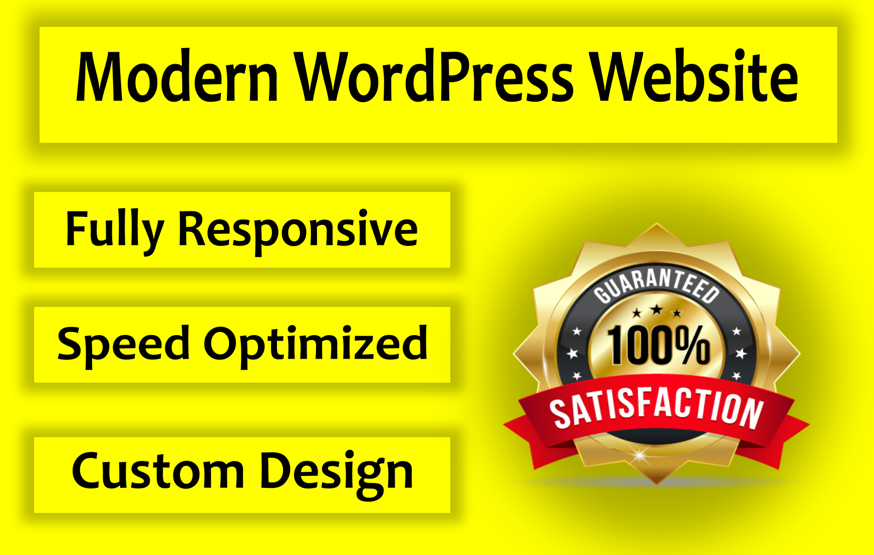 I will design a modern WordPress website