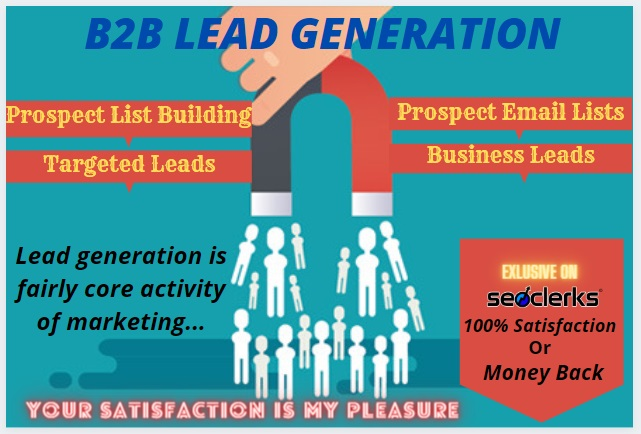 I will do b2b 100 lead generation and targeted lead generation