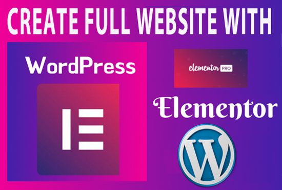 I will create a wordpress website with elementor pro