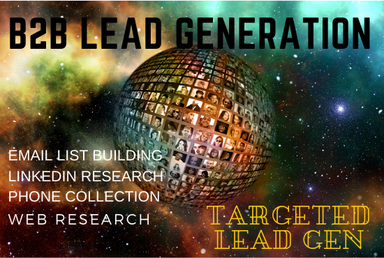 I will do targeted b2b lead generation and web research