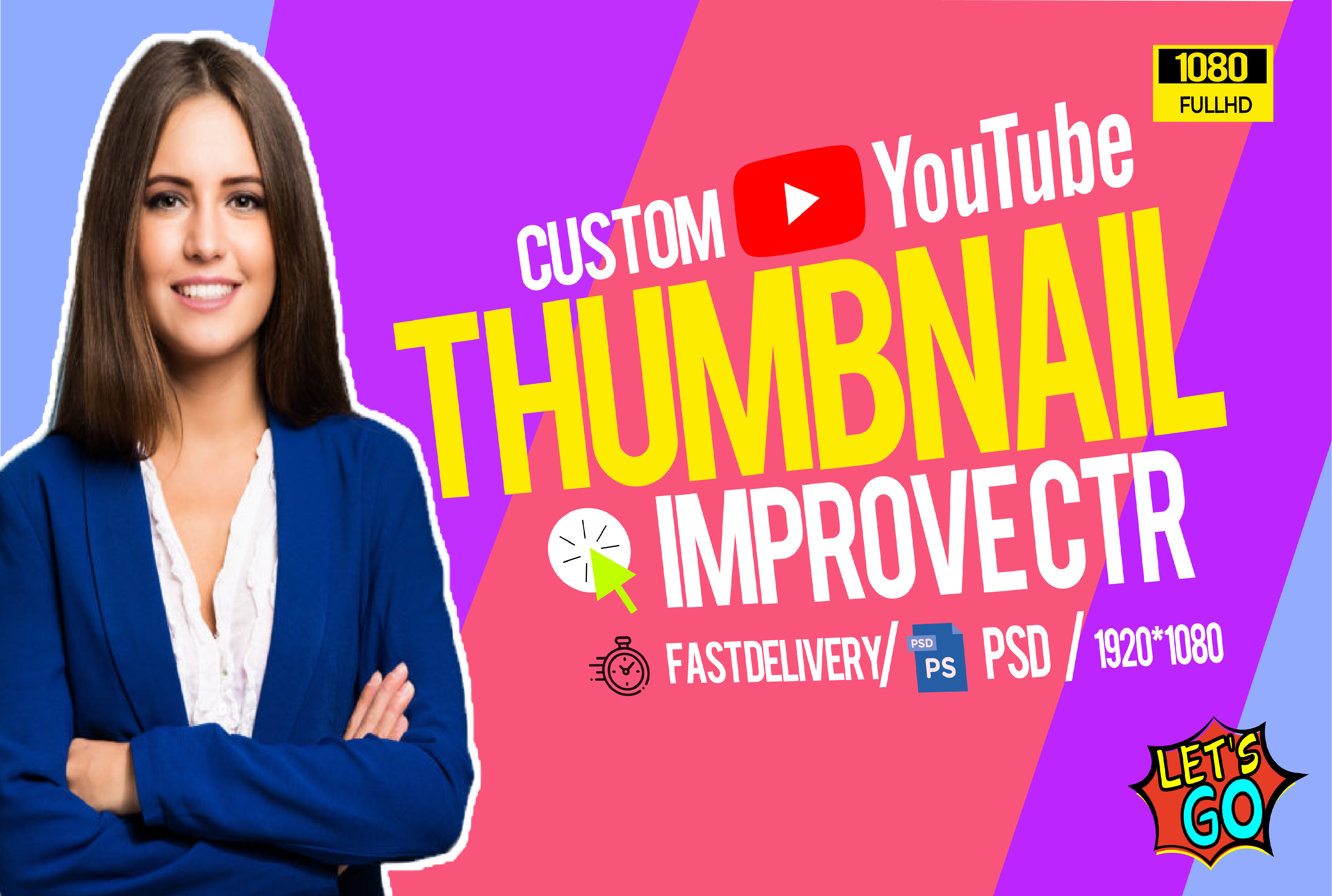 I will design amazing eye catchy youtube thumbnail