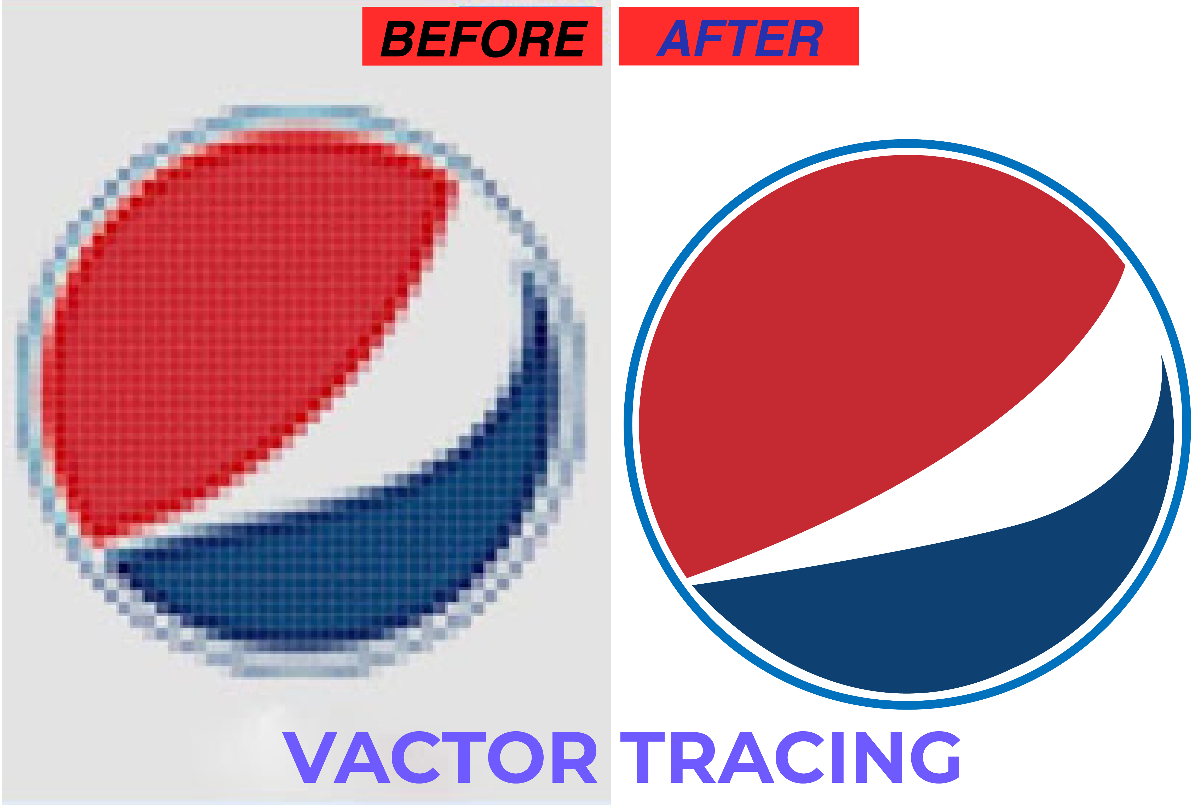 I will vector tracing, icon tracing, vectorise, convert the logo into a vector in 6 hrs