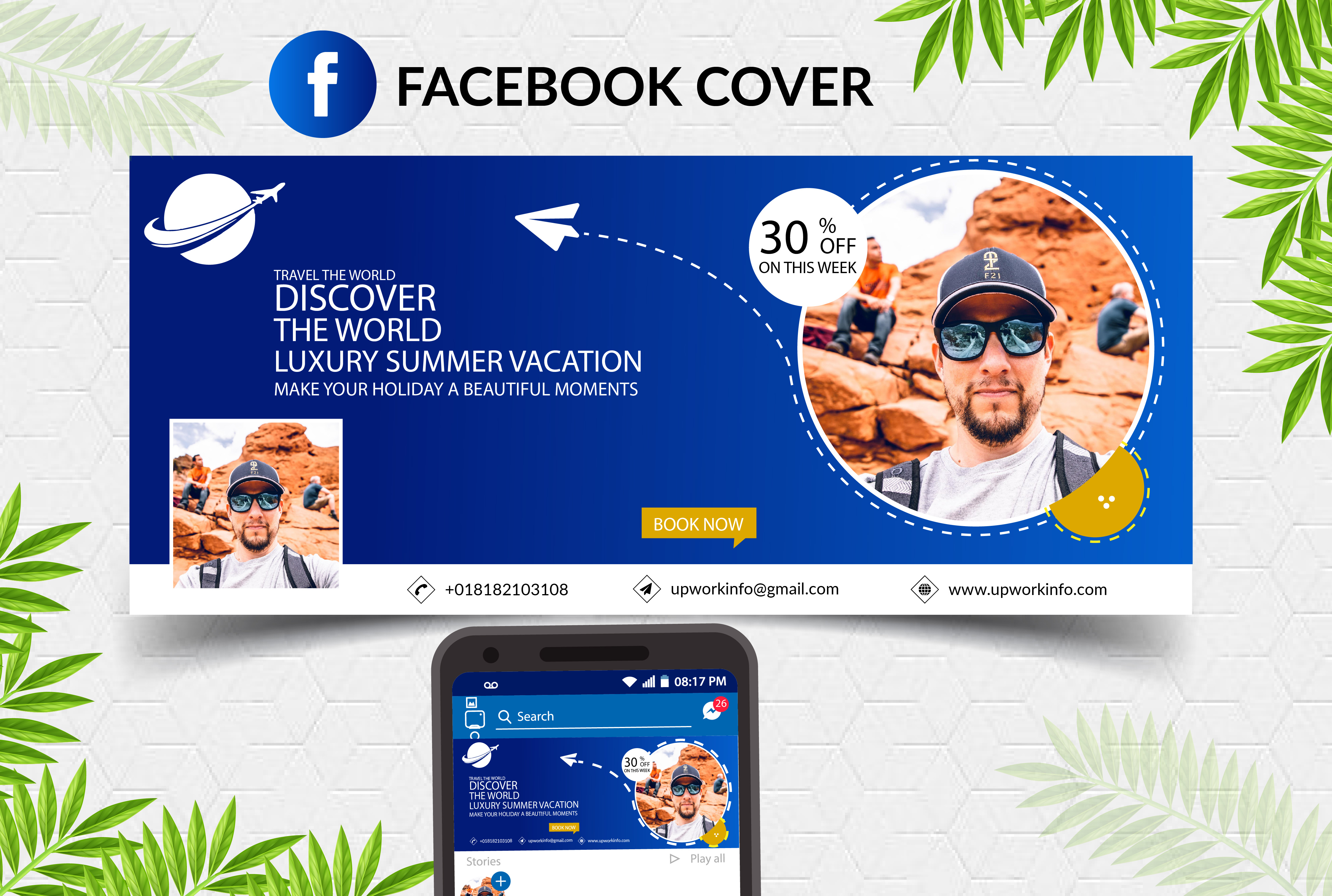 I will design professional facebook cover photo banner