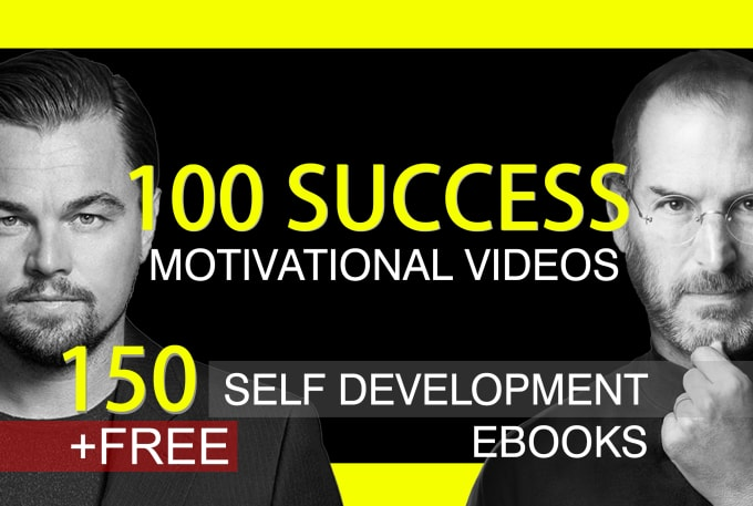 I will give you 100 motivational videos,  tracks,  ebooks for personal development