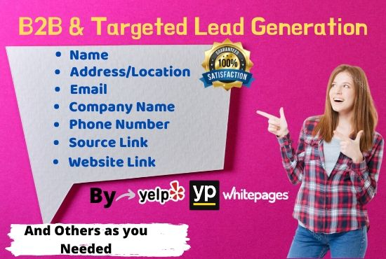 I will do targeted b2b lead generation web research data mining