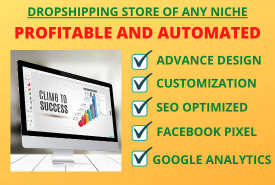 Get a professional automated high converting shopify store with winning products
