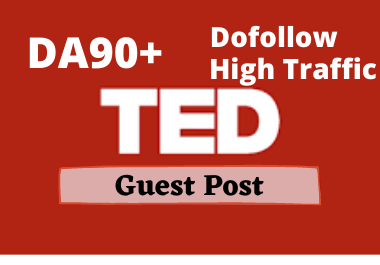 High Quality Guest post on TED. com DA93 permanent backlink