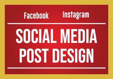 I will Design your Social Media Post Professionally