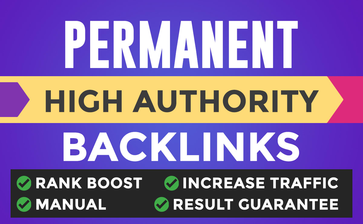 I will do google rank first page with permanent backlinks