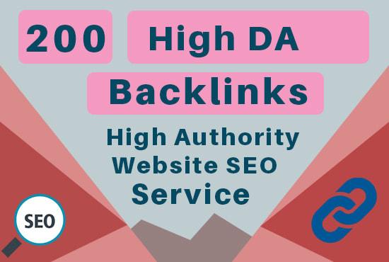 Provide 200 High Da Backlinks in High Authority Website Seo Service