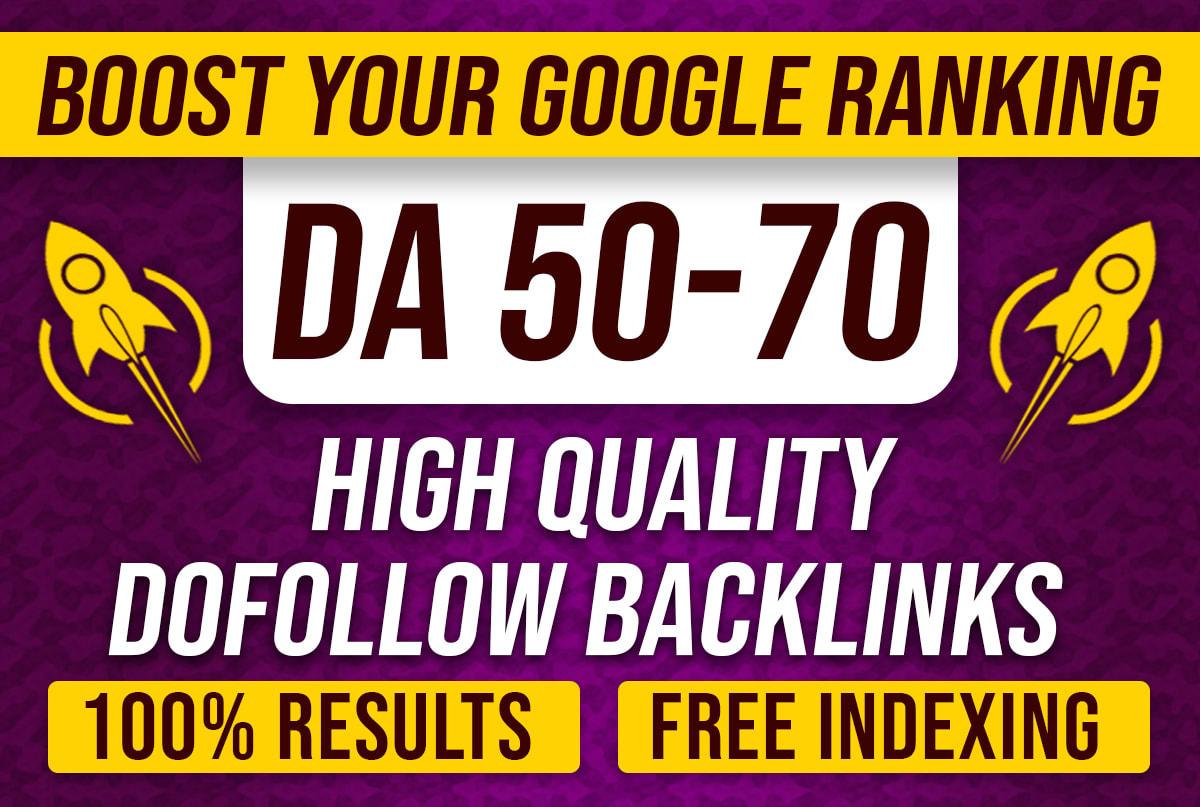 Create high da contextual seo dofollow backlinks