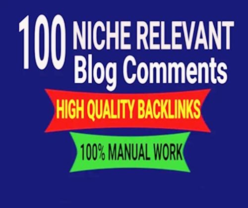 I will create 100 niche relevant blogcomments backlinks