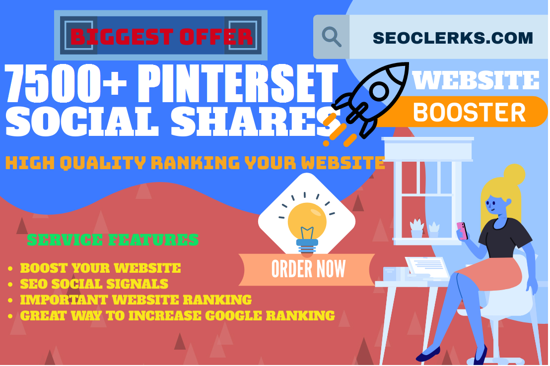 TOP PR 8 PINTERSET FASTREST OFFER 7500+ HQ SOCIAL SIGNALS REAL ACTIVE SHARE FOR SEO GOOGLE RANKING