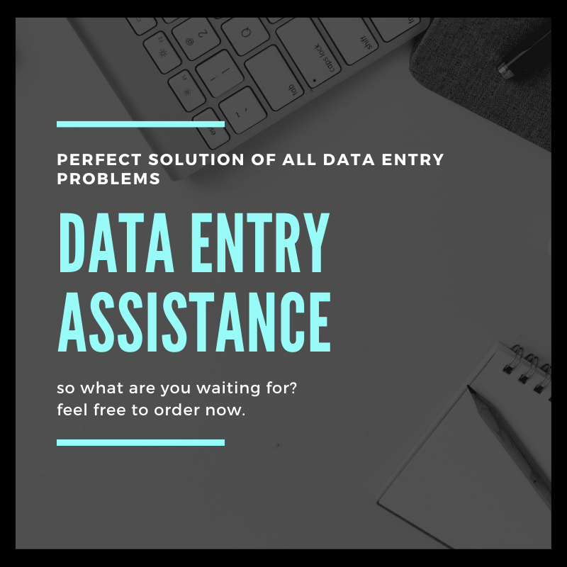 Data entry assistance provides with all the data entry solutions you need
