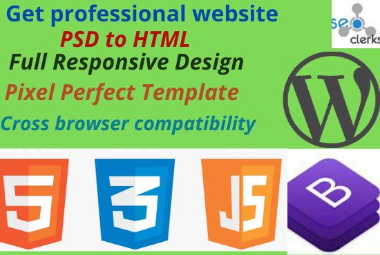 I will convert PSD to HTML,  xd to HTML,  sketch to HTML responsive