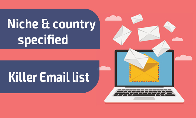 I will build high quality niche and country specified email list organically for you