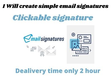 I will create outstanding HTML email signature for personal and business uses