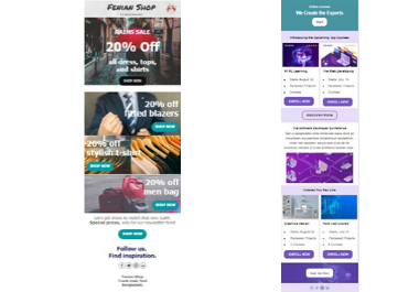 I will do Professional responsive HTML email template newsletter