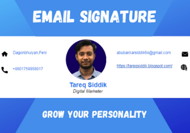 Eye Catching HTML Coded Email Signature