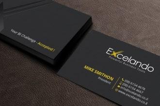 I will design unique modern, luxury business card business card design.
